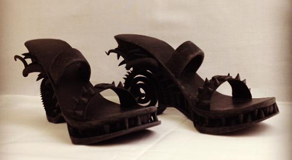 3D printed demonic shoes. Source: WhiteClouds