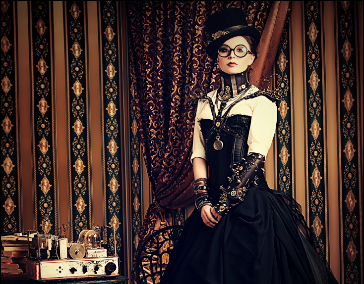 Steampunk girl with radio. Source: Kiselev Andrey Valerevich/Shutterstock.com
