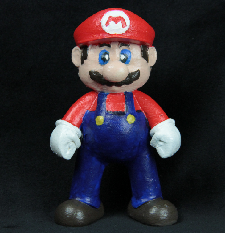 3D printed Mario, hand-painted