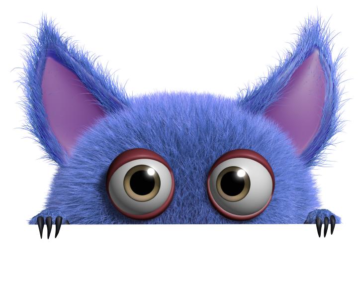 Purple monster. Source: Albert Ziganshin/Shutterstock.com