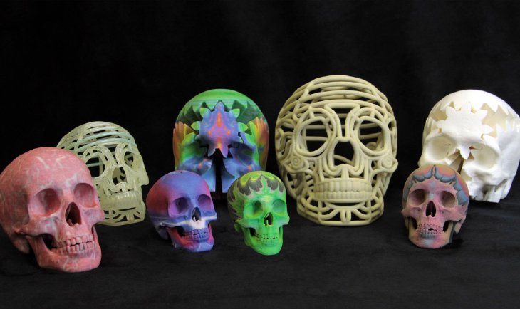 3D printed skulls. Source: WhiteClouds