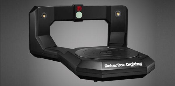 3D Printed MakerBot Digitizer - Desktop consumer scanner. Source: MakerBot