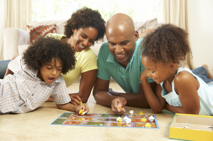 3D Printed Family playing a game. Source: Monkey Business Images/Shutterstock.com