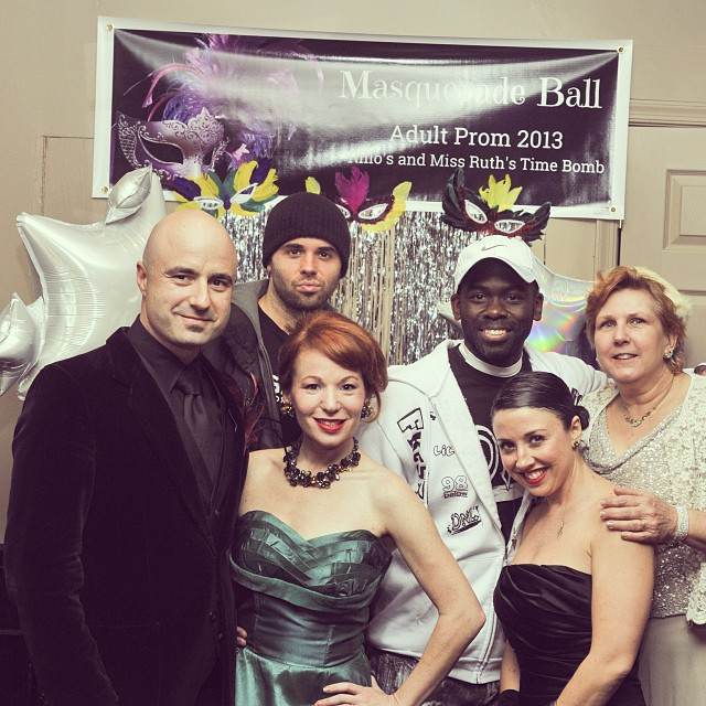 The Time Bomb crew having fun at Adult Prom