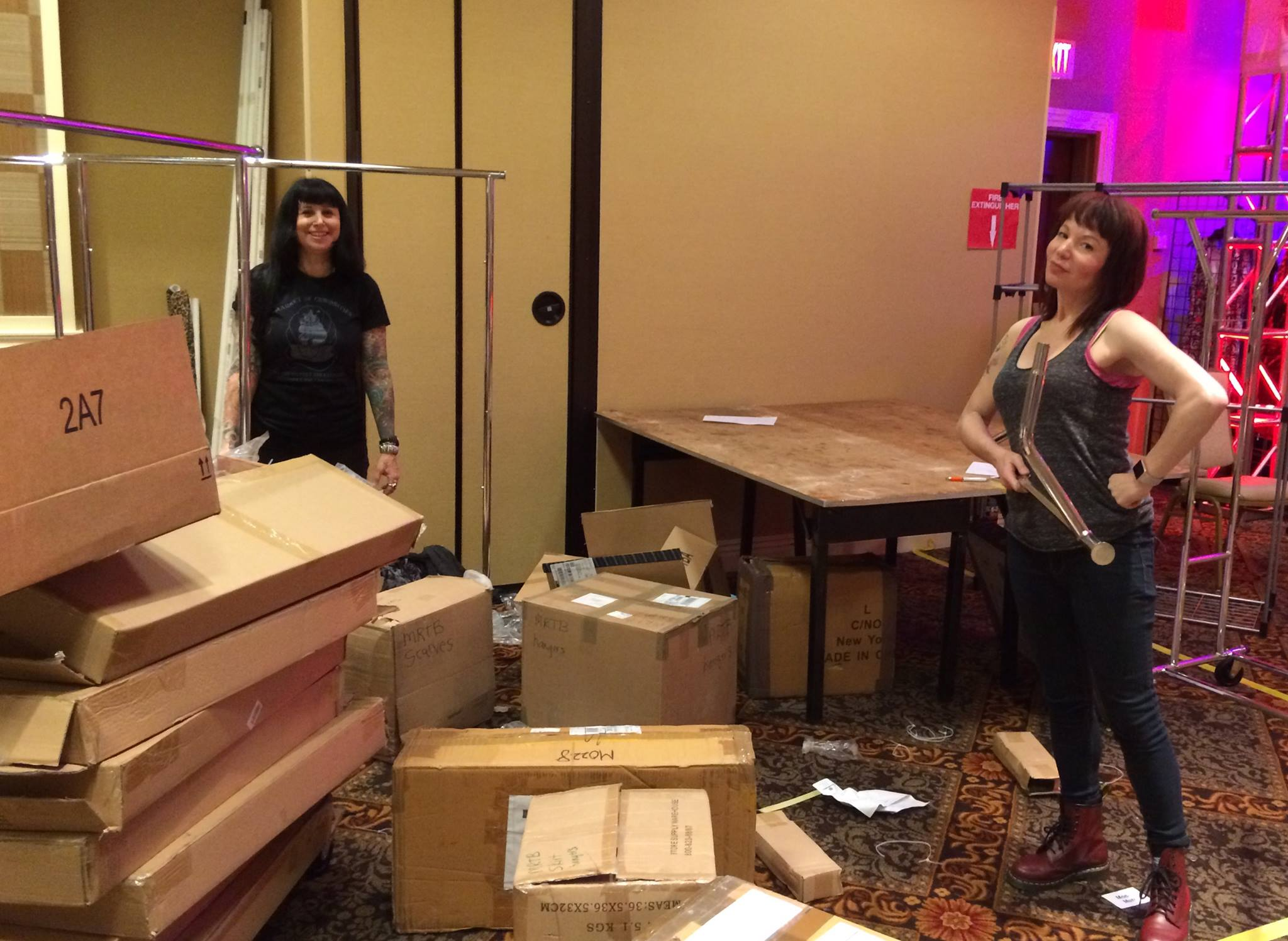 Miss Ruth and Peanut set up their booth at Viva Las Vegas