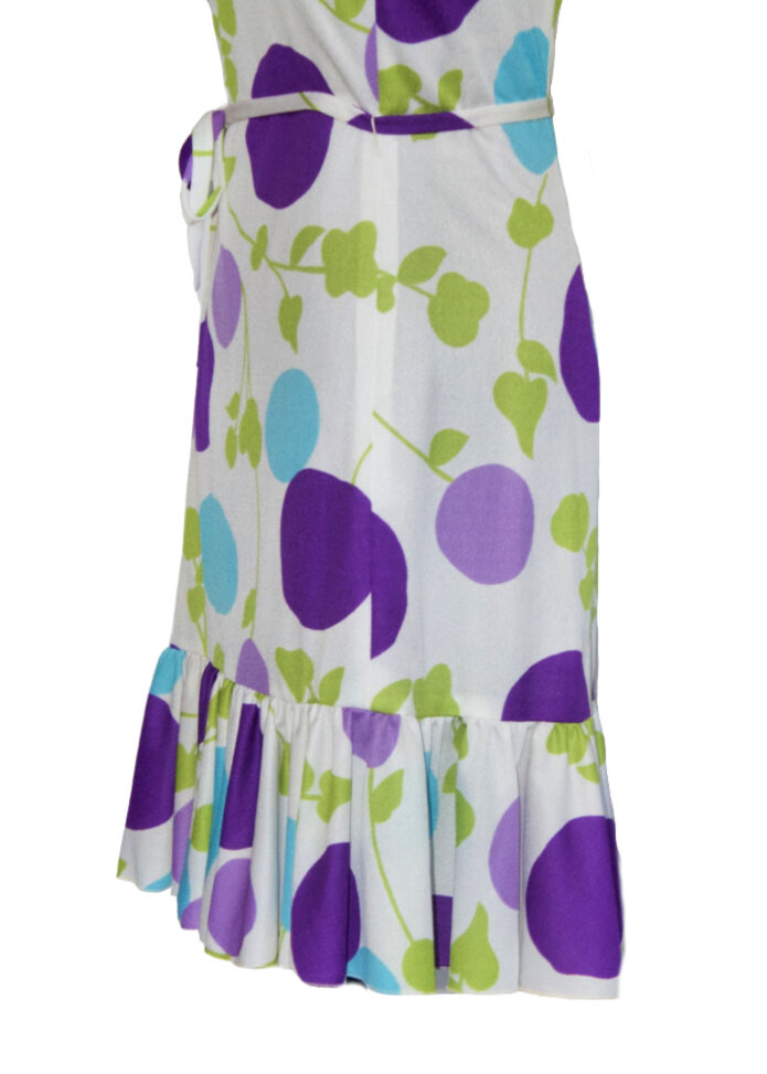 Vintage Diane Fr\u00e9s skirt Marisa Christina peasant Mardi Gras flapper flouncy ruffled skirt