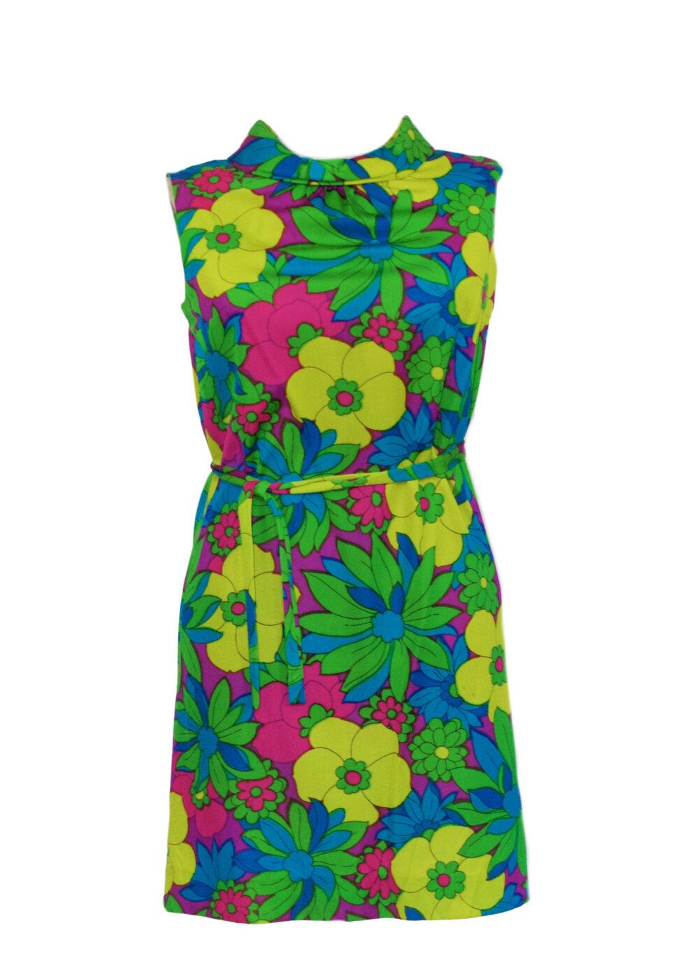 1960s floral dress