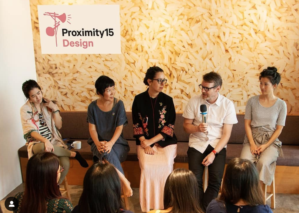 Design panel at Proximity Designs with colleagues from Google, Airline design and Studio D.  Photo credit: Instagram posting from Proximity Designs, March 21, 2019