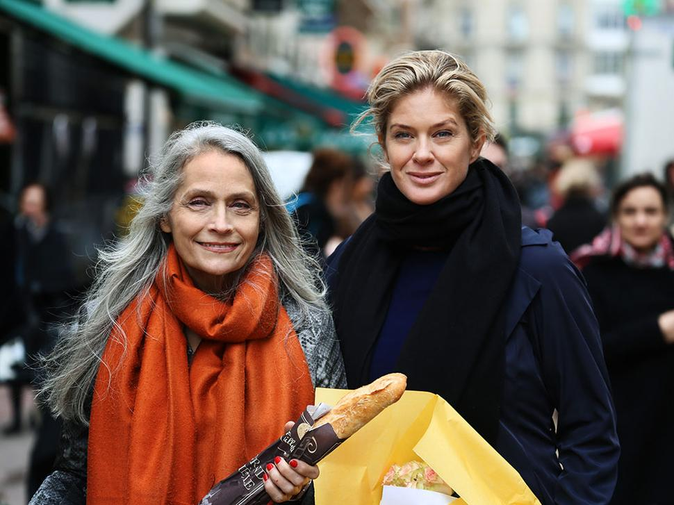 Rachel with French model Isabelle Appay. Picture / Supplied.