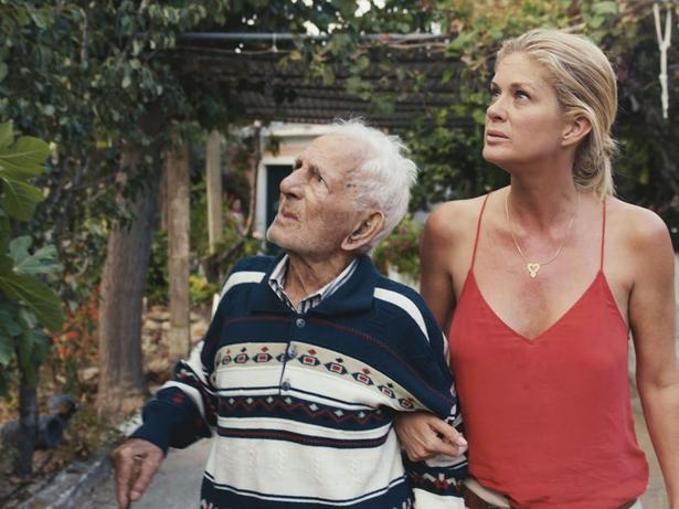 Rachel and Grigoris, a Greek centenarian from Ikaria. Picture / Supplied.