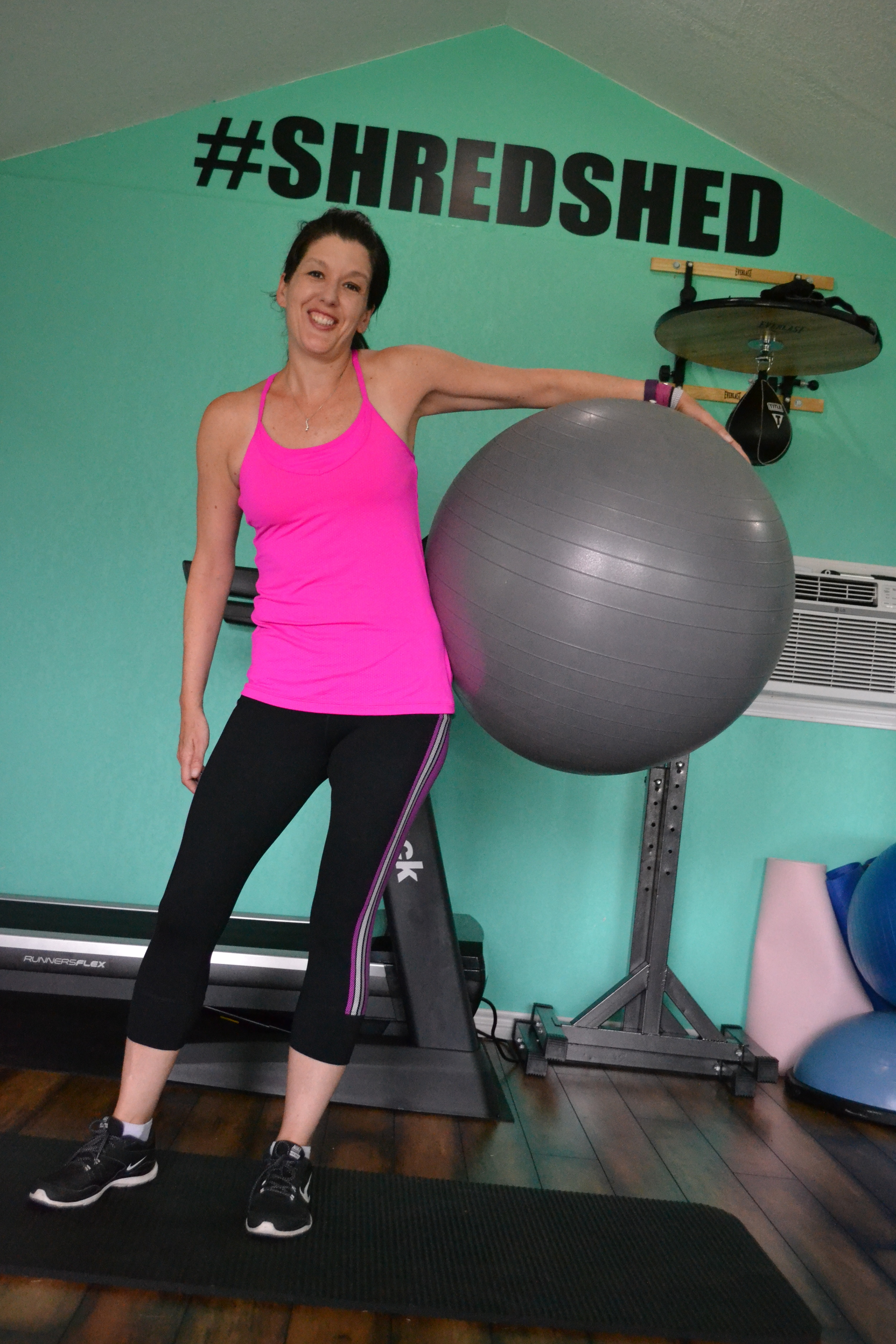 Stability ball training in the Shredshed