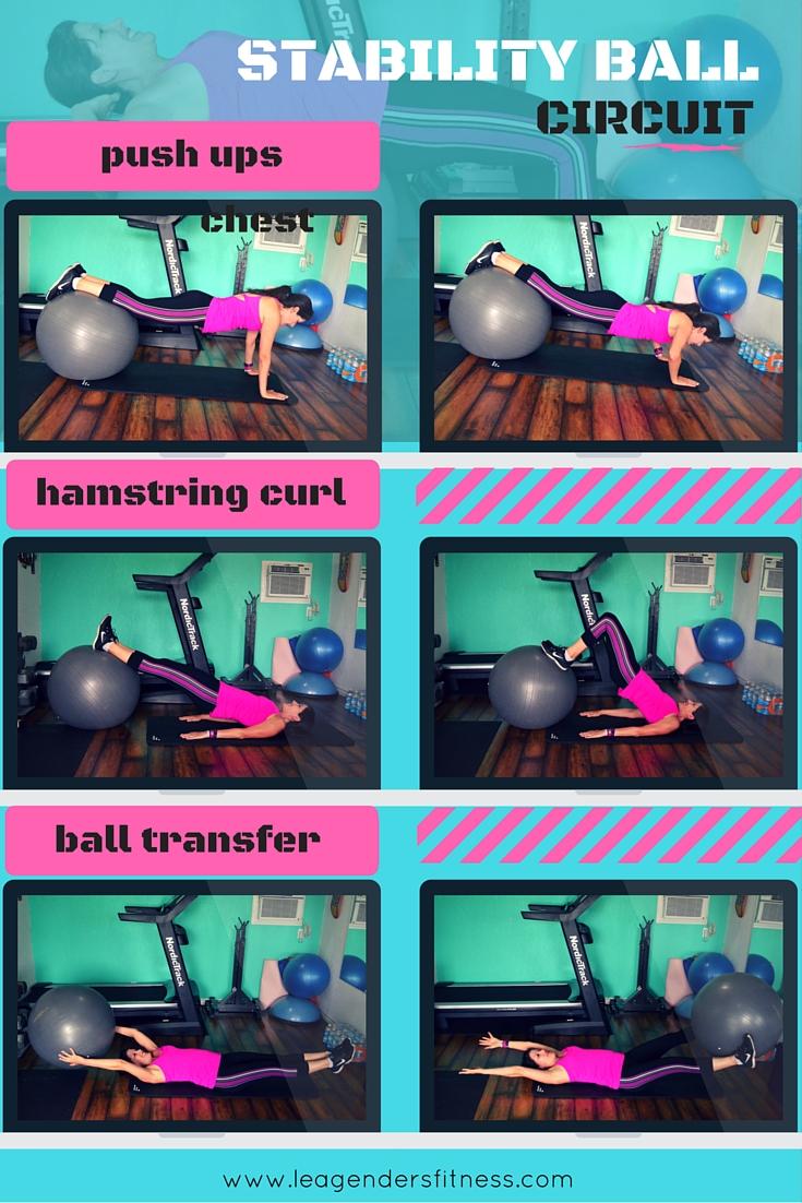 Full body stability ball circuit #1