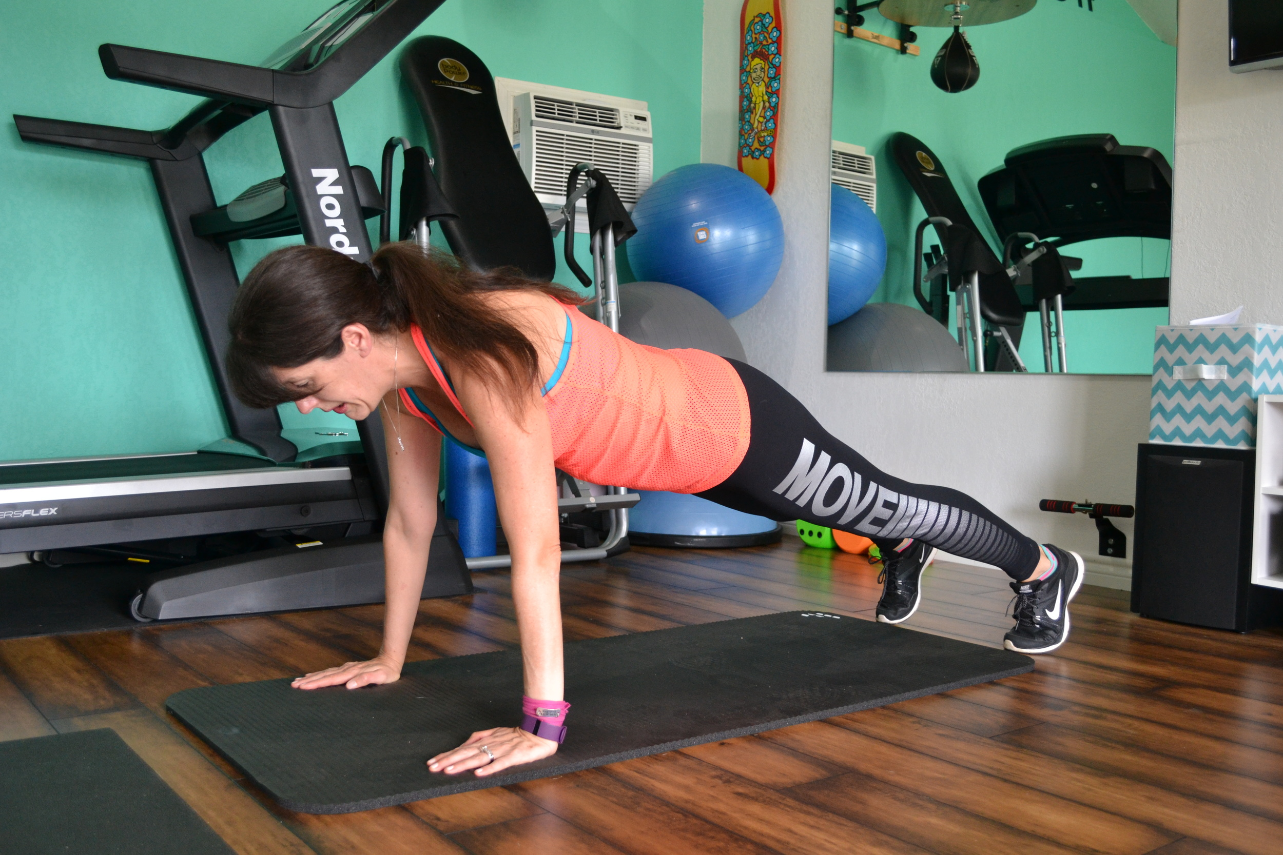 starting push-up position