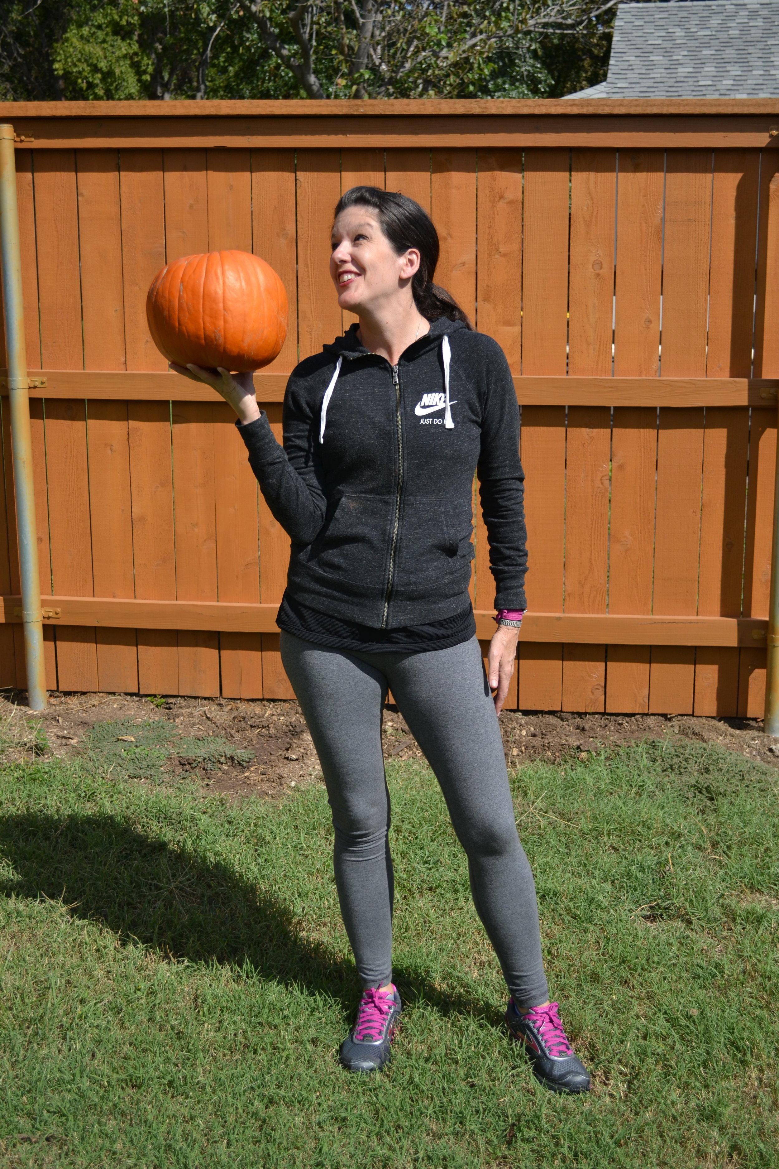Pumpkin or medicine ball...you decide.