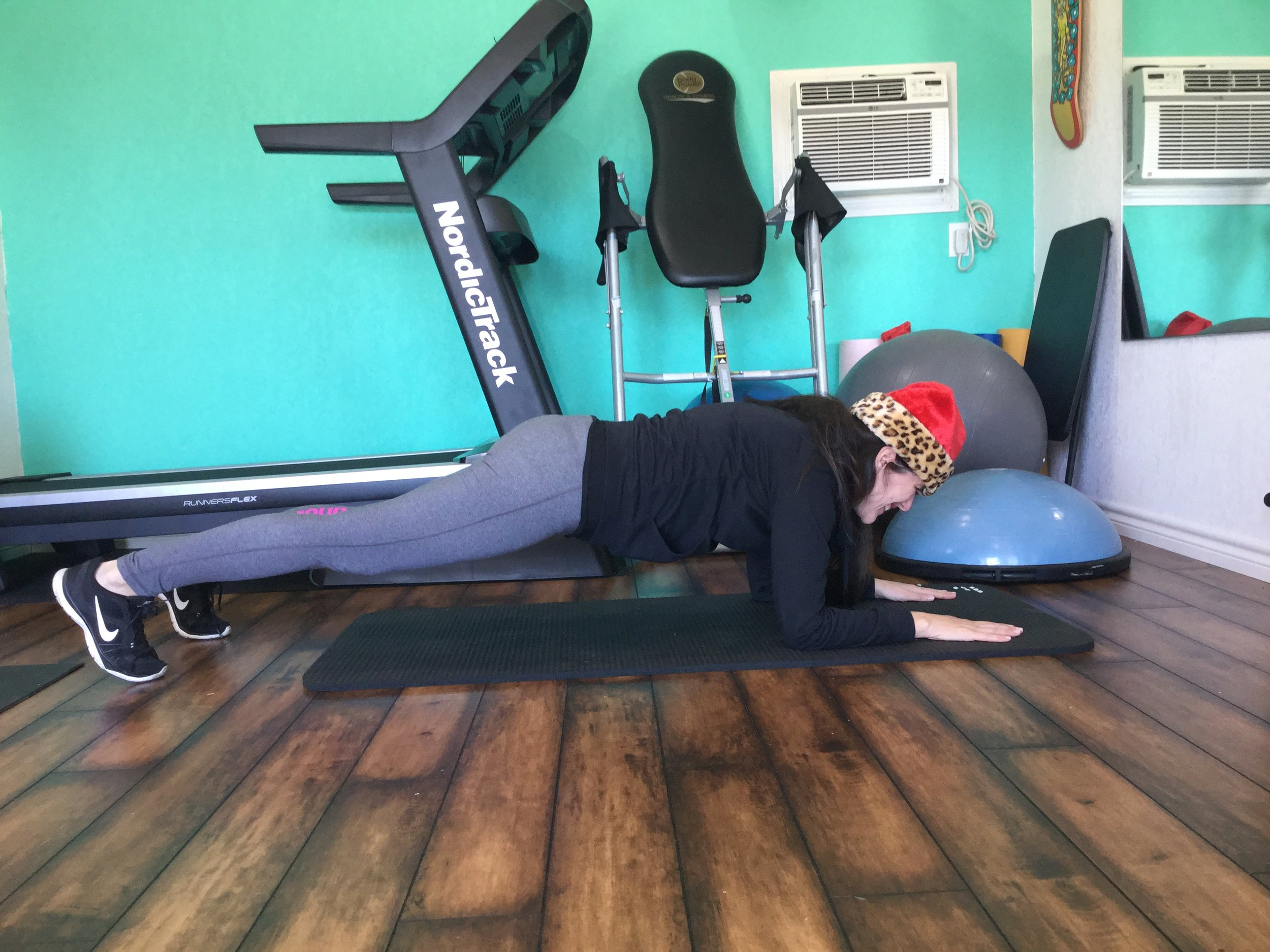 A 30 SECOND PLANK HOLD