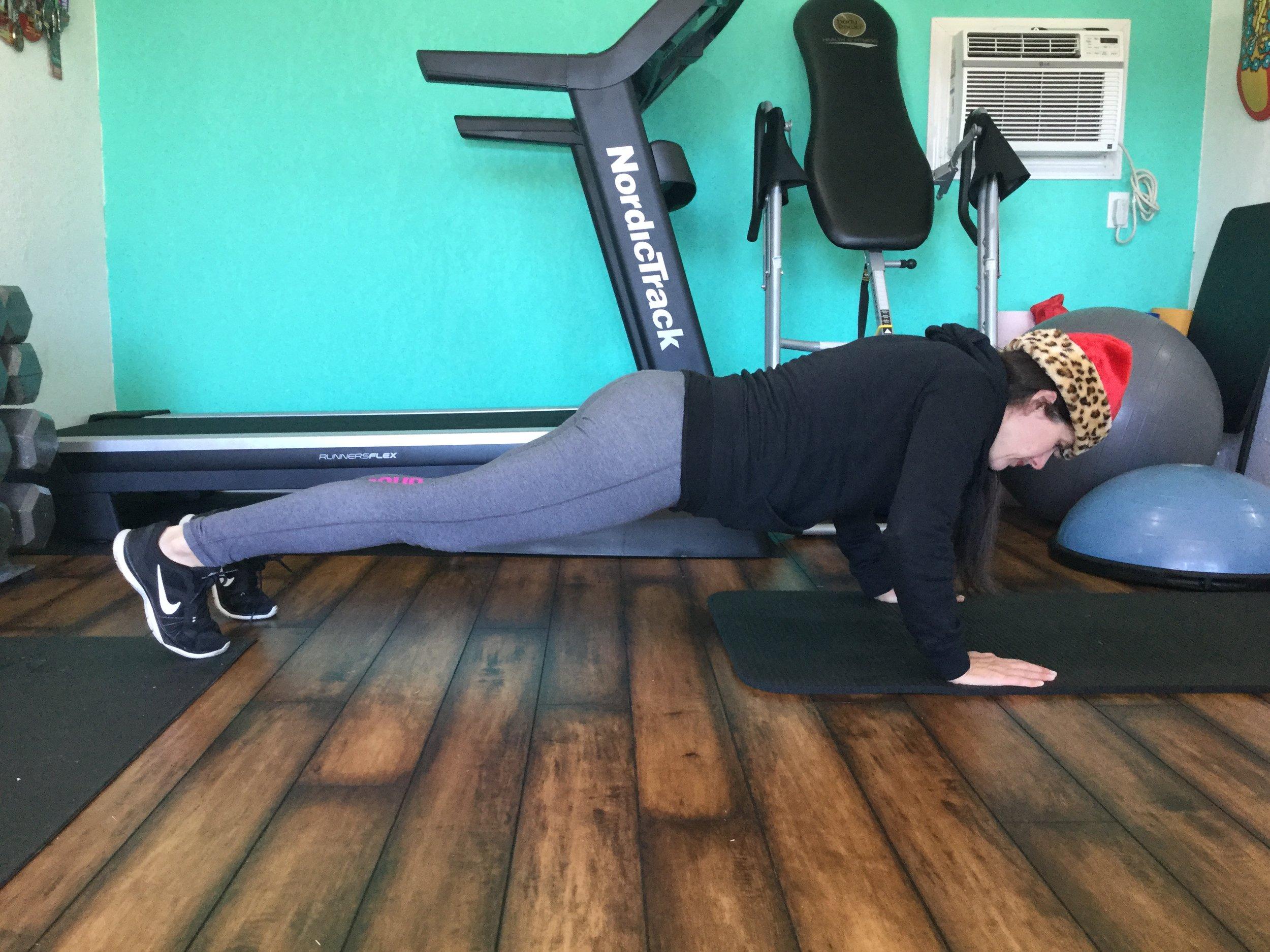 Eight wide arm push ups