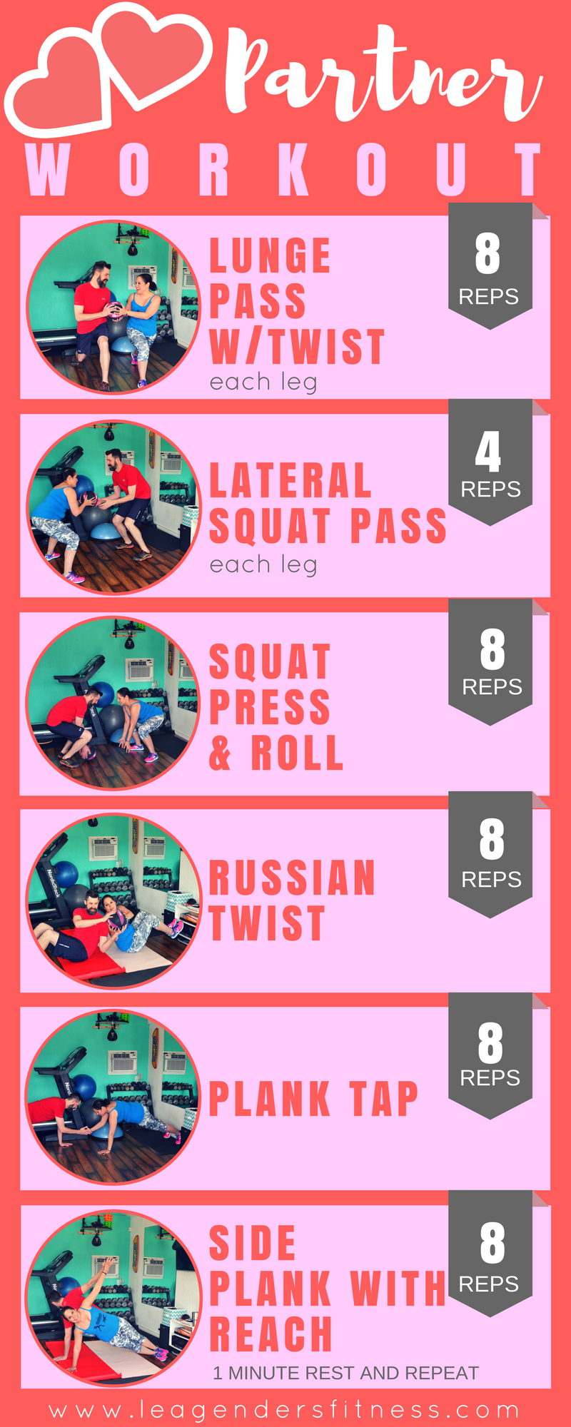 Partner Workout. Save to Pinterest for Later!