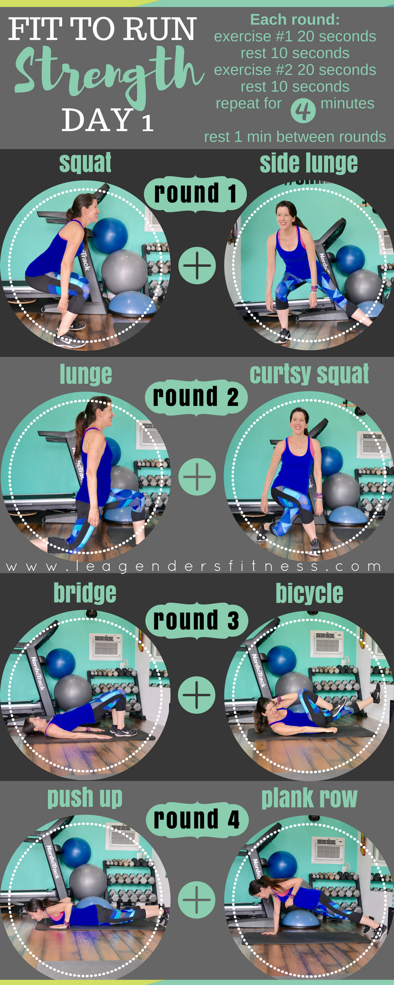 Fit to run strength training for runners - download a printable version of this workout. Save to your favorite fitness Pinterest board