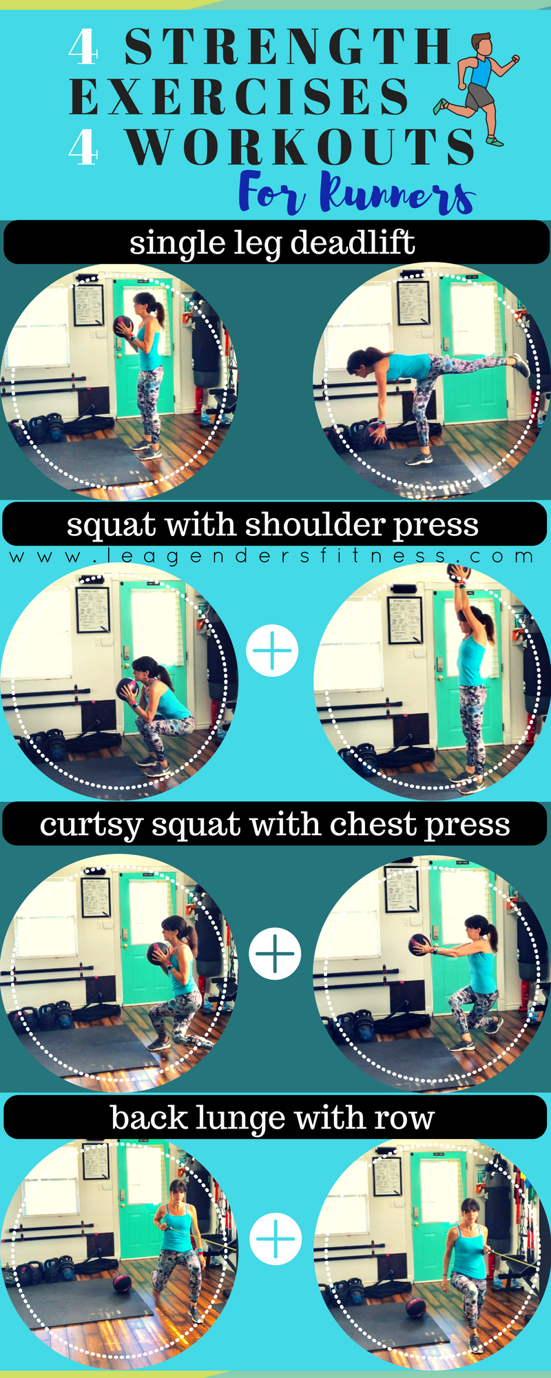 download a free printable PDF of this four exercises for runners workout