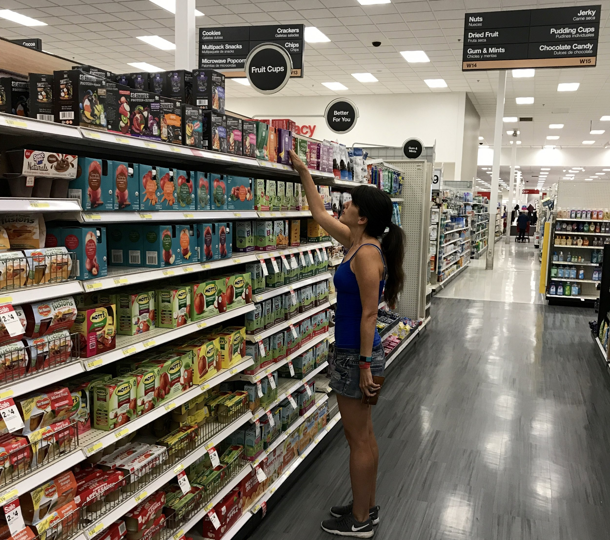 Find Shine Organics in the snack aisle near the applesauce. Which flavor do I want?