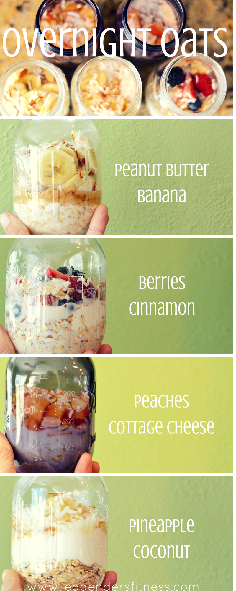 Overnight Oats - Save on Pinterest for later!