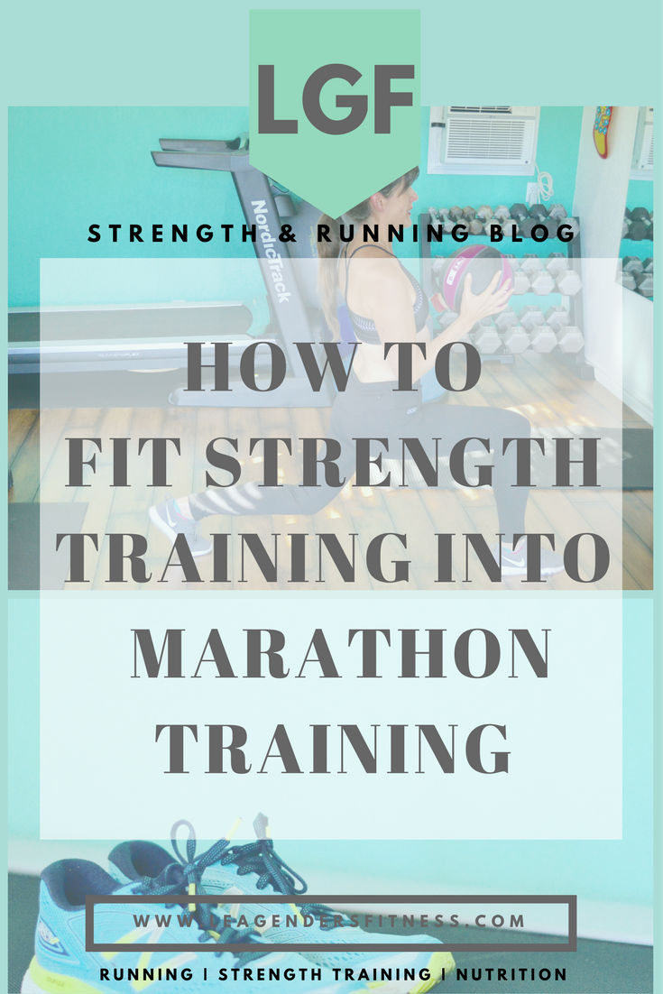 How to fit strength training into marathon training. Save to Pinterest for later.