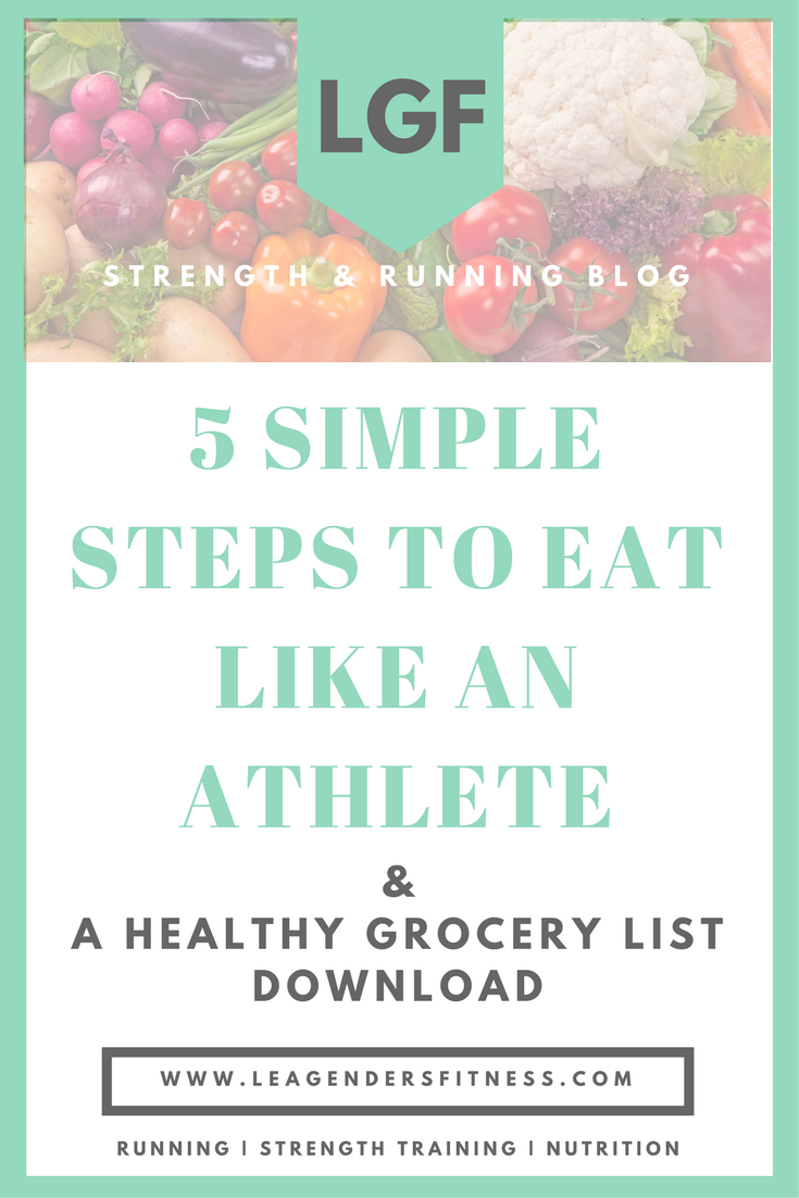 Five simples steps to eat like an athlete