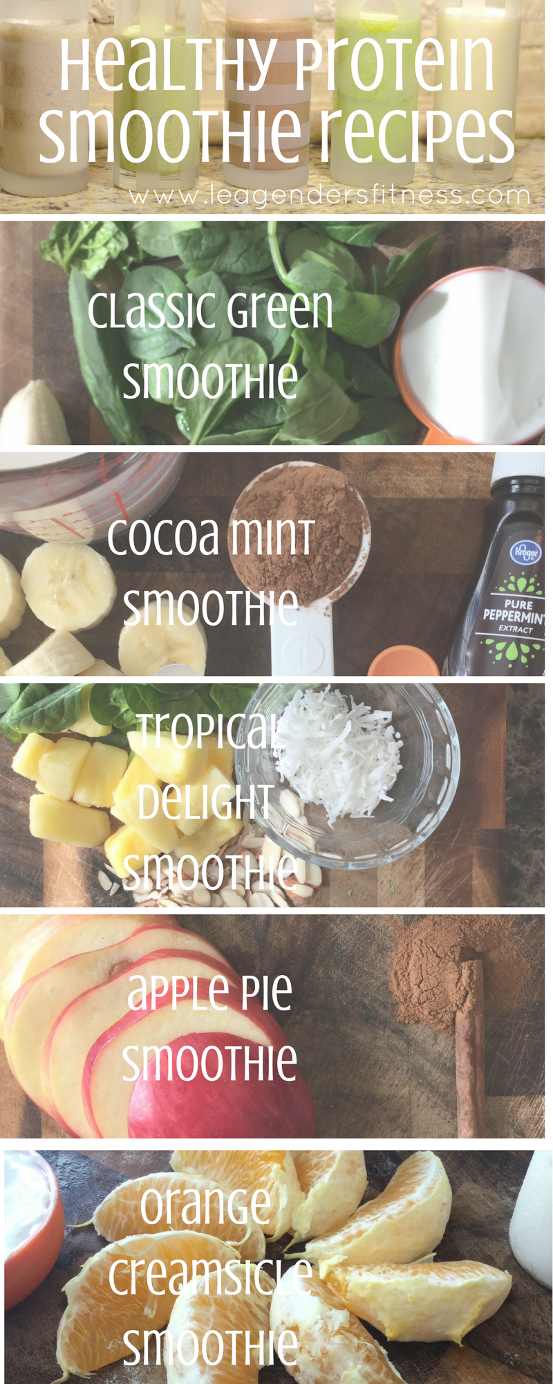 5 healthy high protein smoothie recipes - save to Pinterest for later!