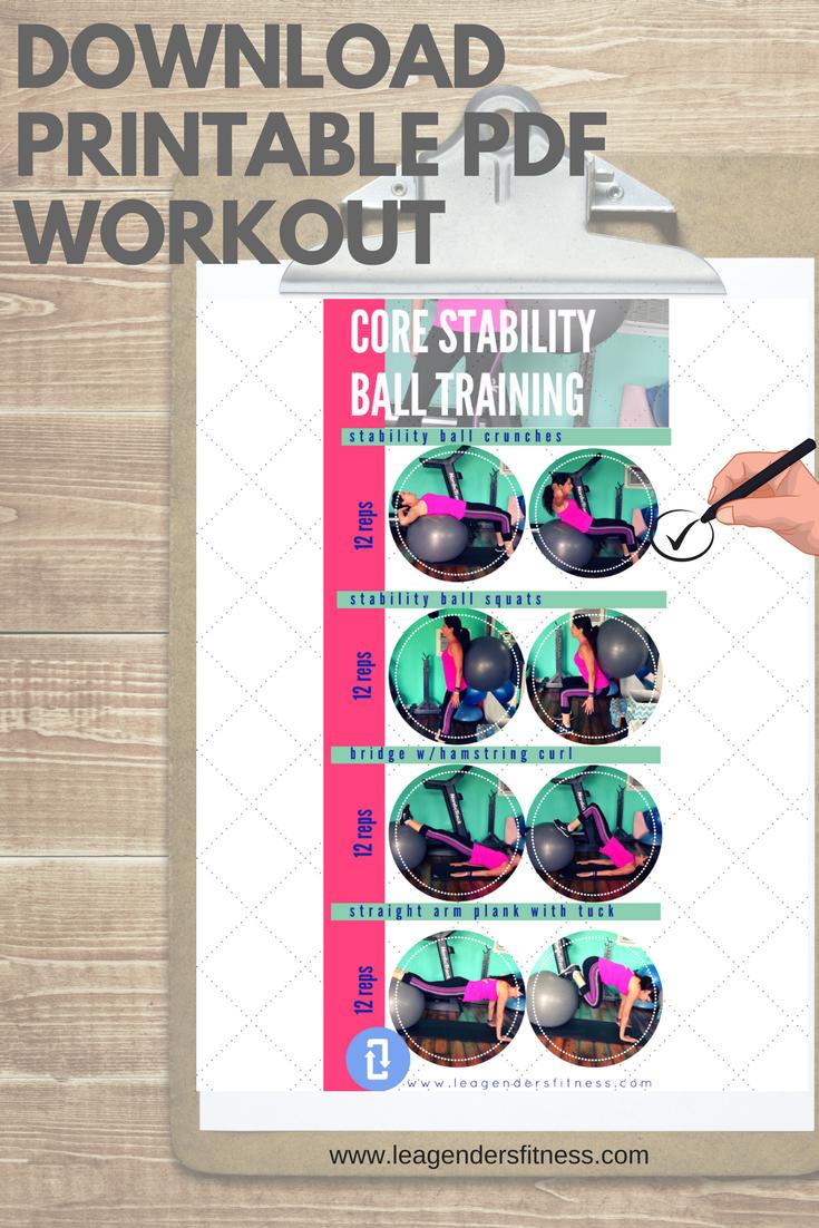 download a printable PDF core stability workout