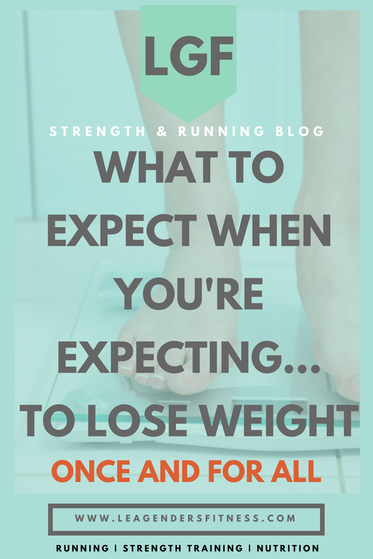 What to expect when you're expecting to lose weight, once and for all. Save to Pinterest for later.