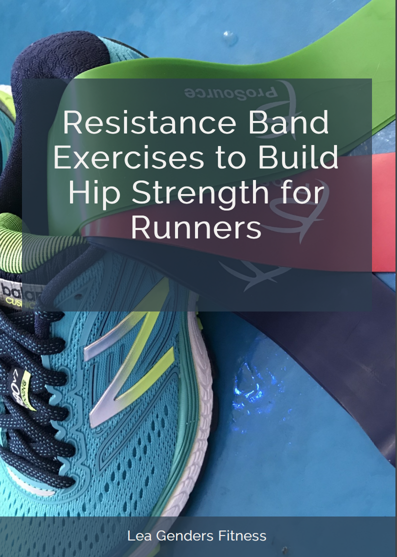 Resistance band exercises to build hip strength for runners. save to your favorite Pinterest workout board for later.