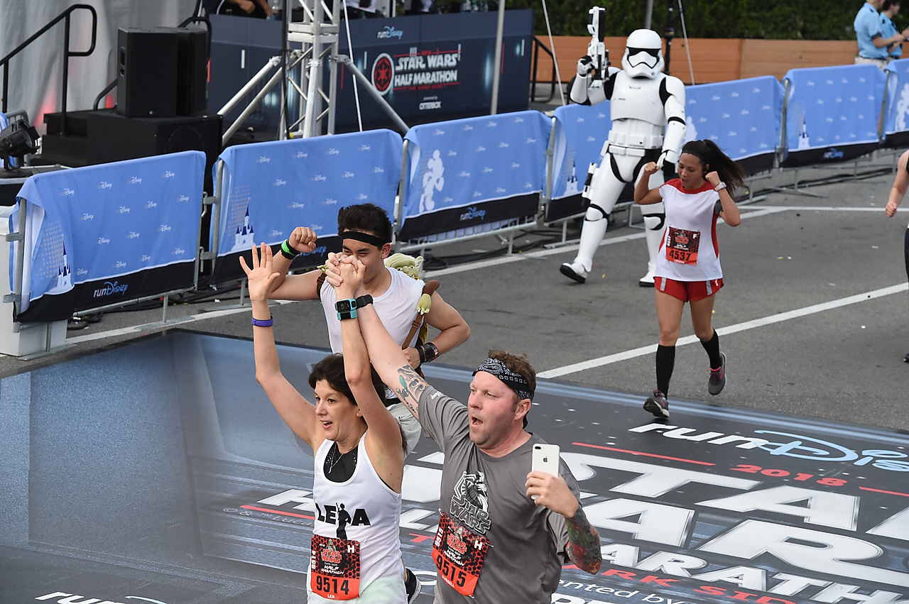 At least we know we can outrun a stormtrooper. Wait. Aren't you a little short for a stormtrooper?