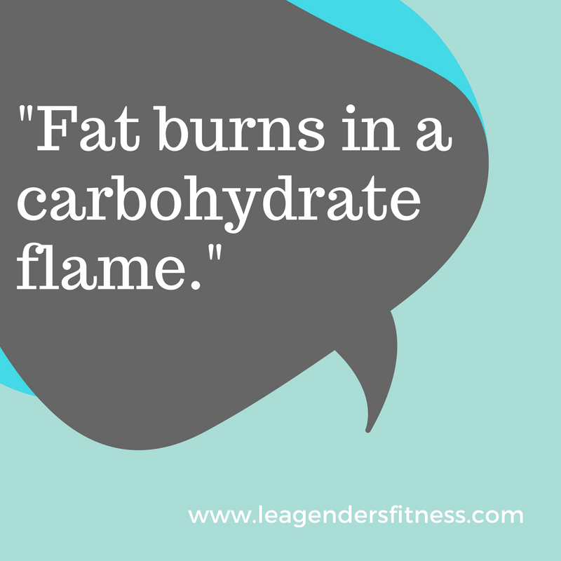 fat burns in a carbohydrate flame