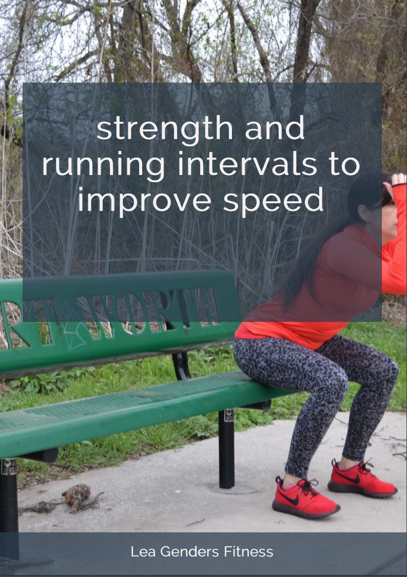 download a printable strength and running workout ebook. no email address required. Save to your favorite Pinterest board for later.