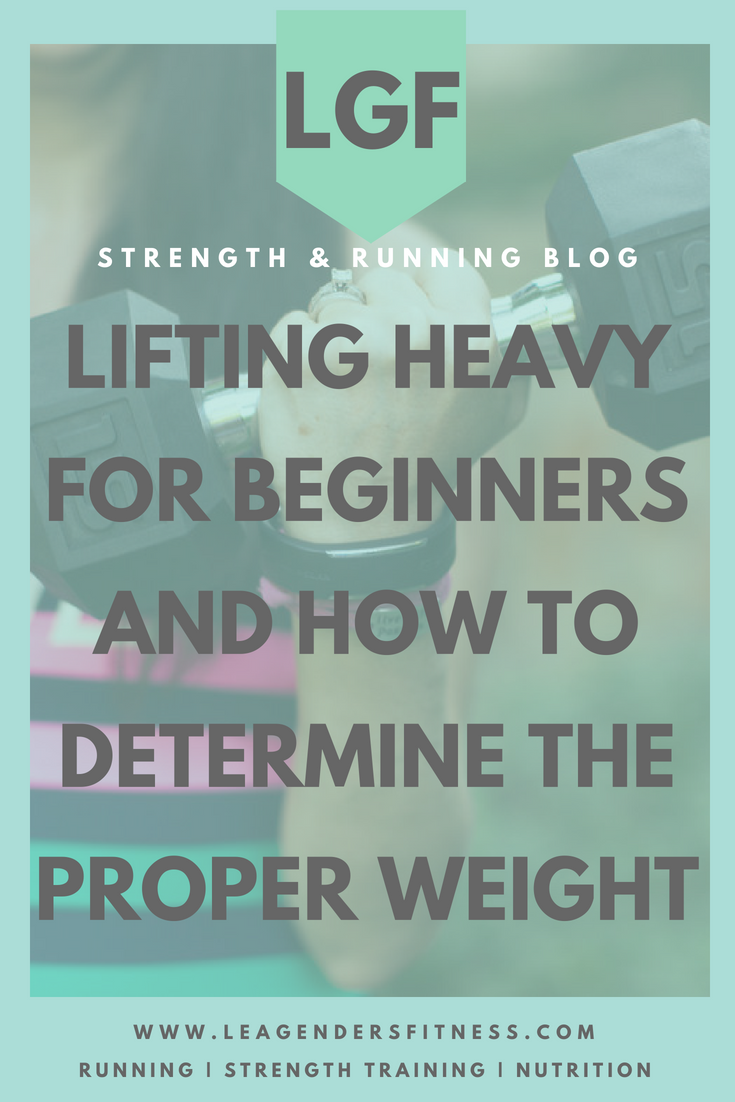 Lifting heavy for beginners and how to determine the proper weight. Save to your favorite Pinterest board for later.