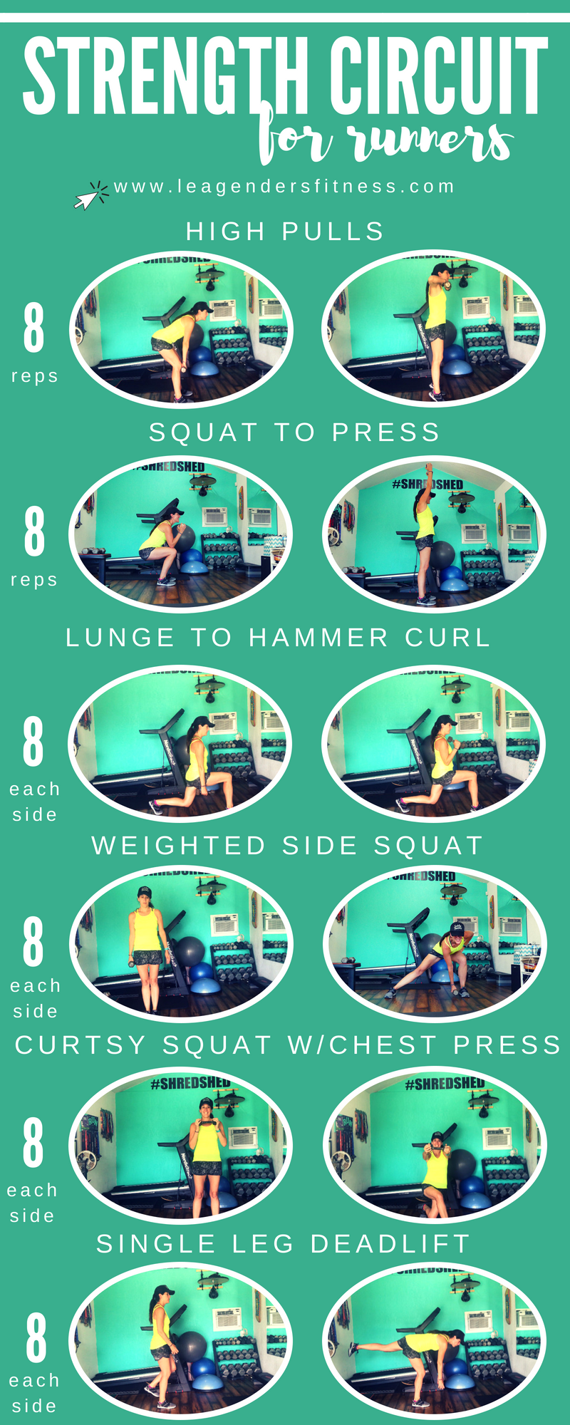 Ultimate strength workout for runners. Save to your favorite Pinterest board for later.
