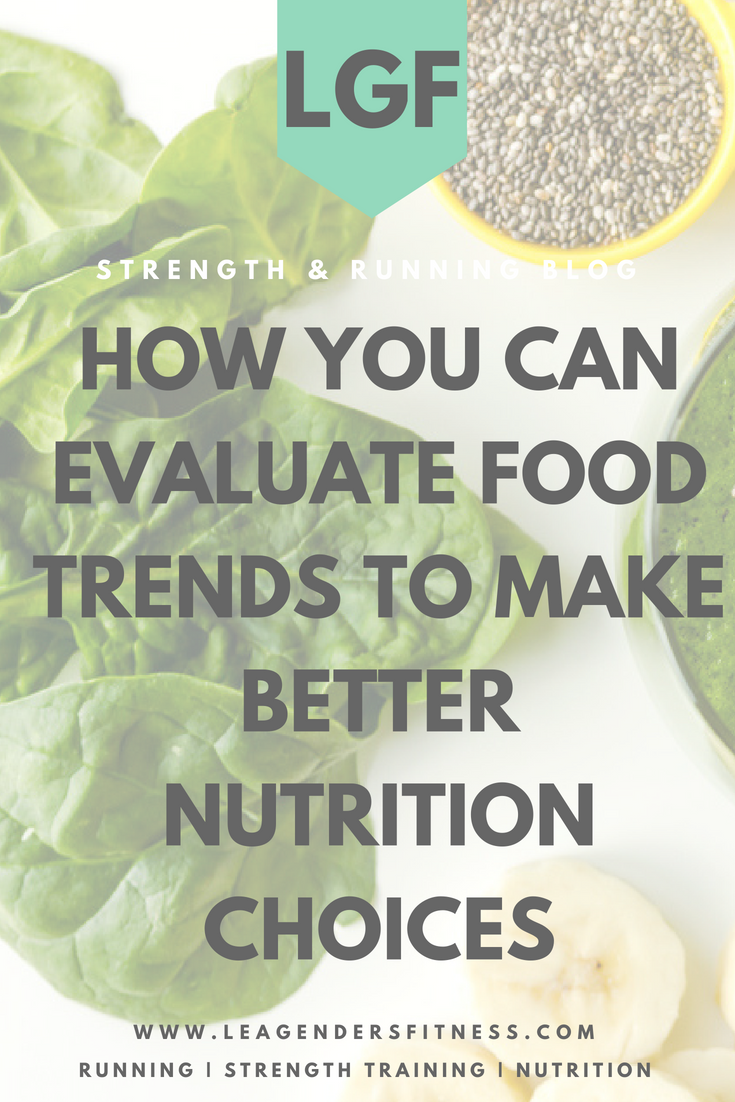 How you can evaluate food trends to make better nutrition choices. save to your favorite Pinterest board for later.