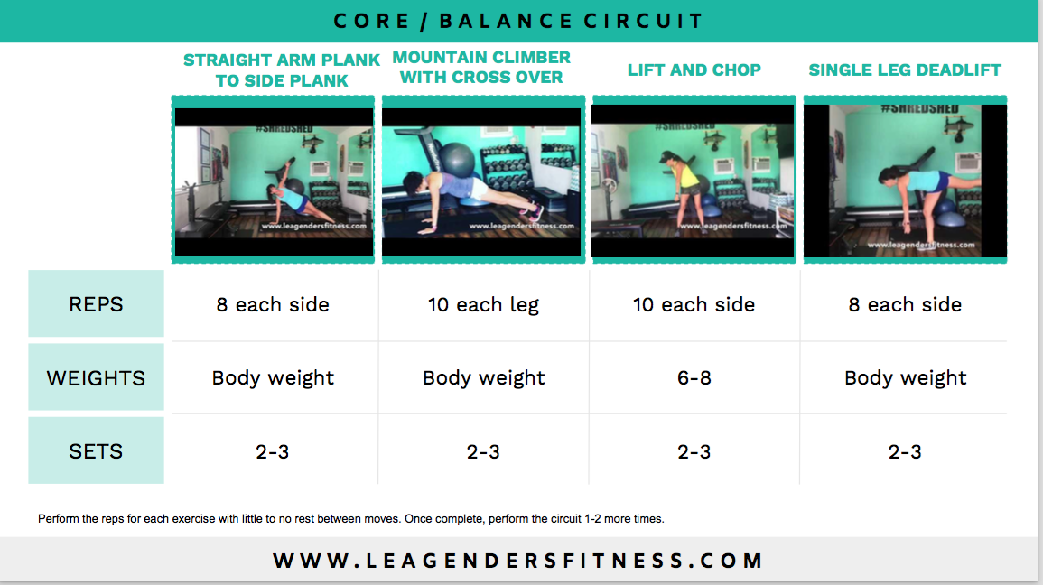 core balance training for runners