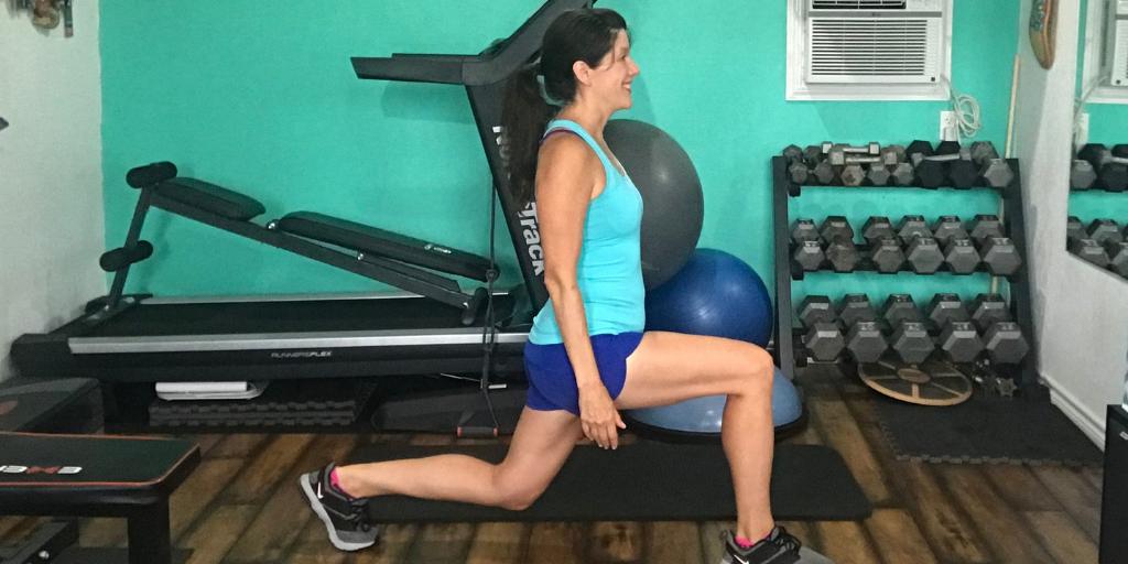 forward lunge in the sagittal plane