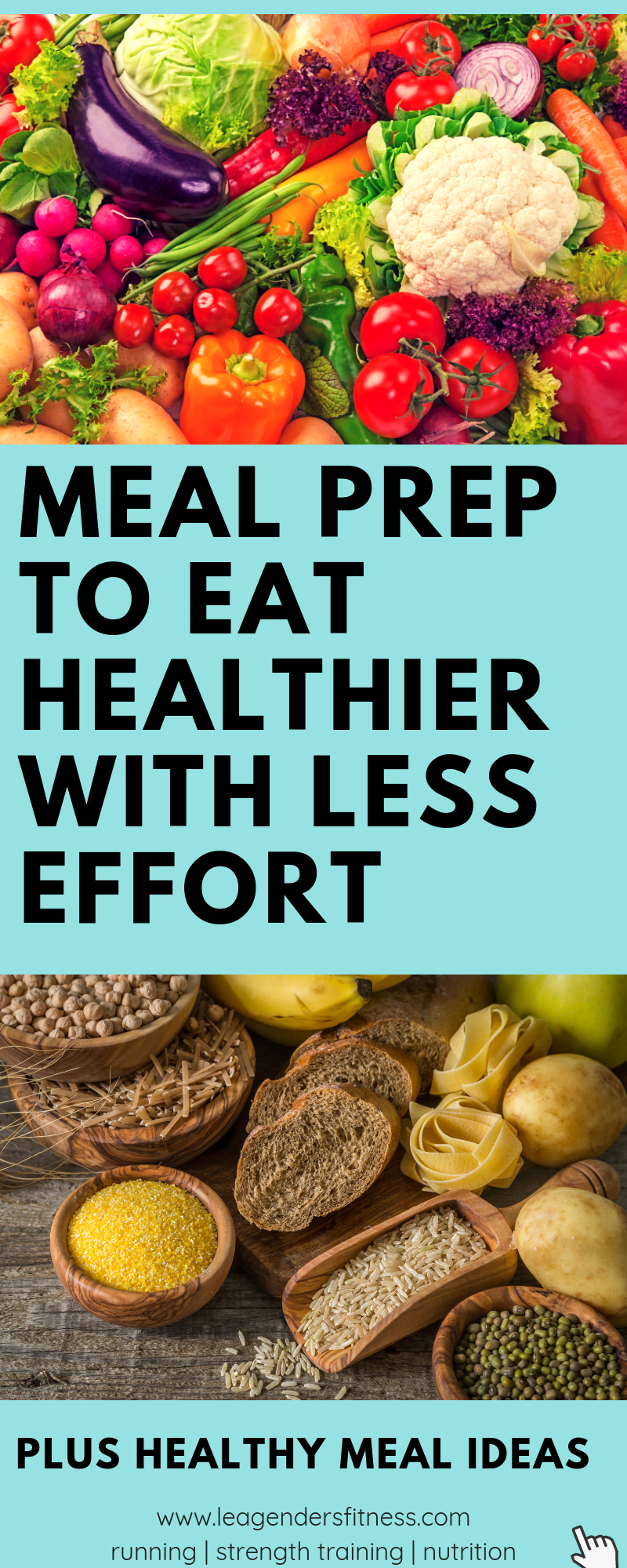 meal prep to eat healthier and save money with less effort. Save to your favorite pinterest board for later.