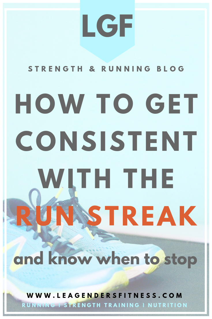 how to get consistent with the run streak and know when to stop. save to your favorite Pinterest board for later.