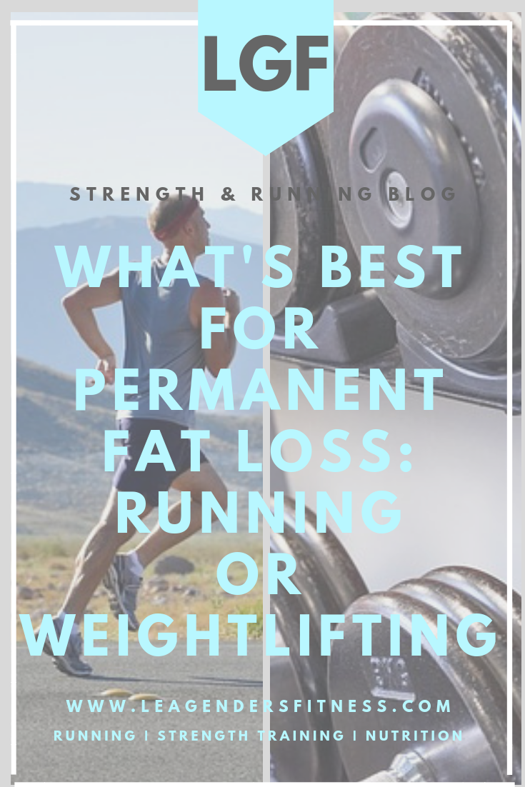 What's best for permanent fat loss: Running or weight lifting? Save to your favorite Pinterest board for later.