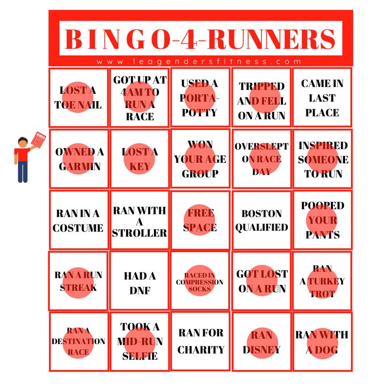 bingo for runners coach lea