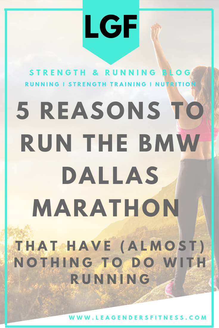 5 reasons to run the BMW Dallas marathon events that have (almost) nothing to do with running. Save to your favorite running or racing Pinterest boards for later.