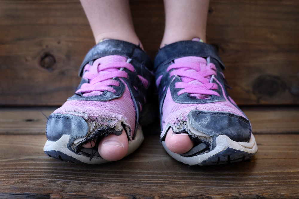 It is not always this obvious when it's time to replace your running shoes