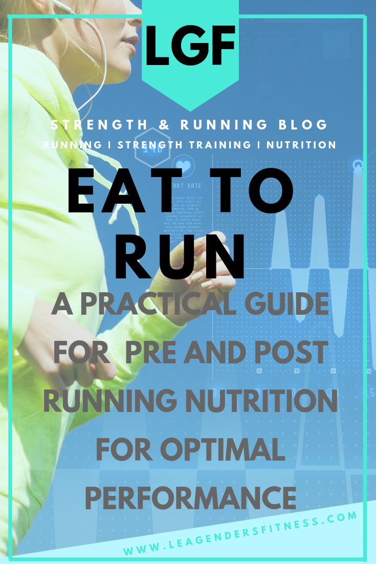 Eat to Run: A practical guide for pre and post running nutrition for optimal performance. Save to your favorite Pinterest board for later.