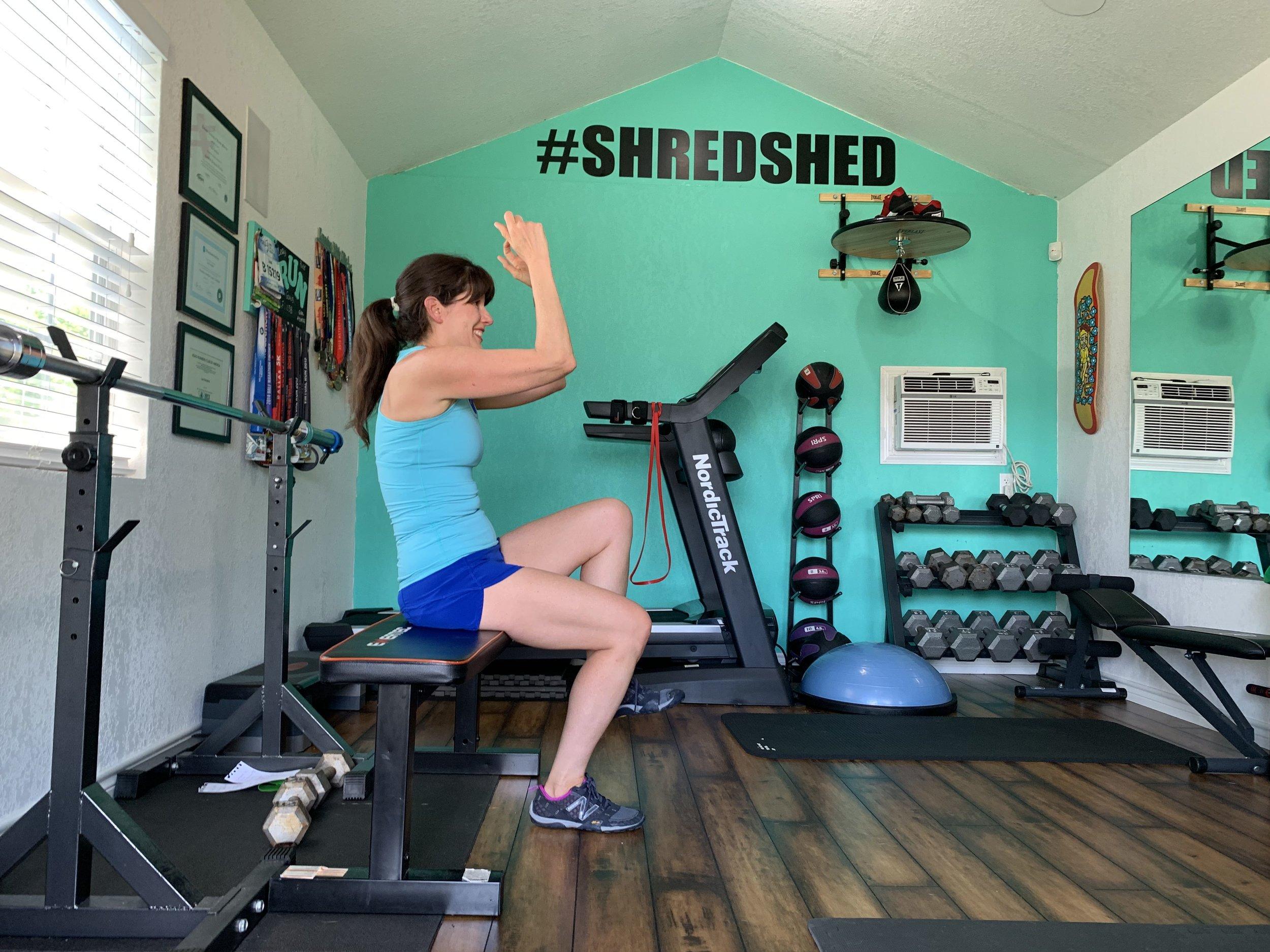 single leg bench squat