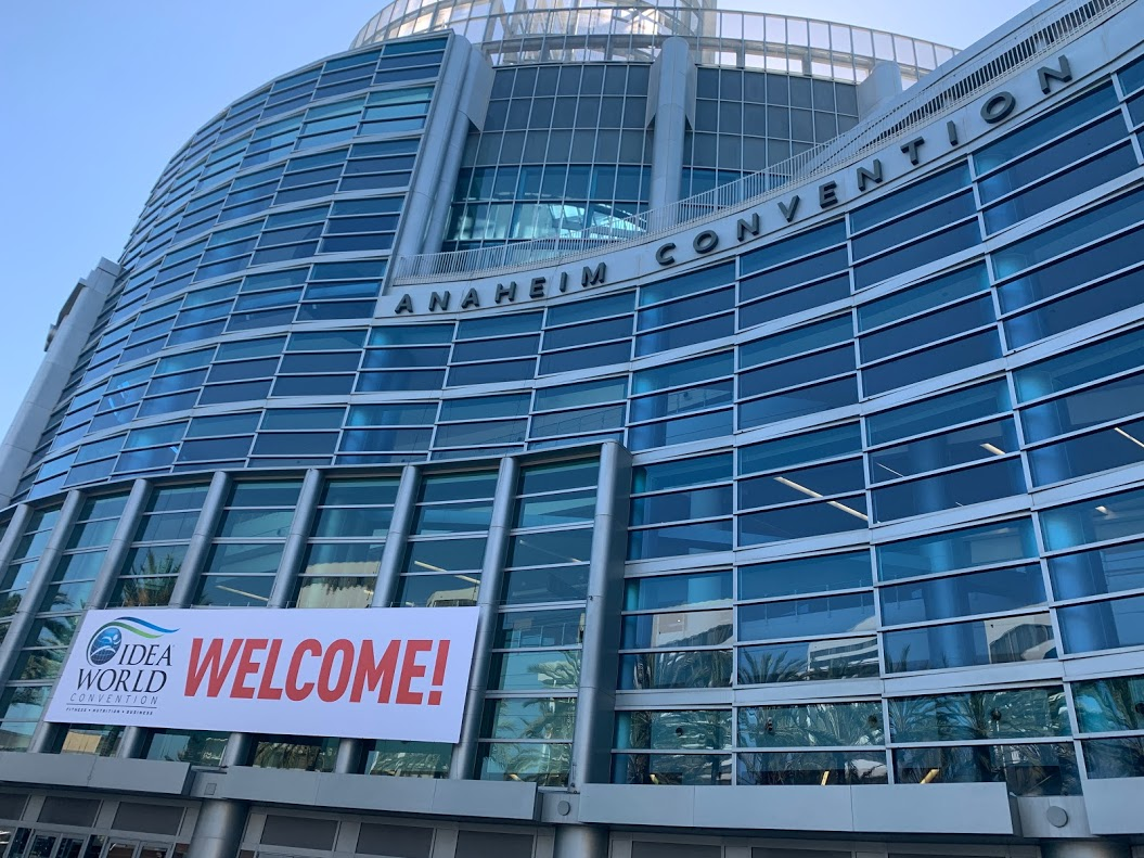 IDEA World convention welcome at the Anaheim convention center.