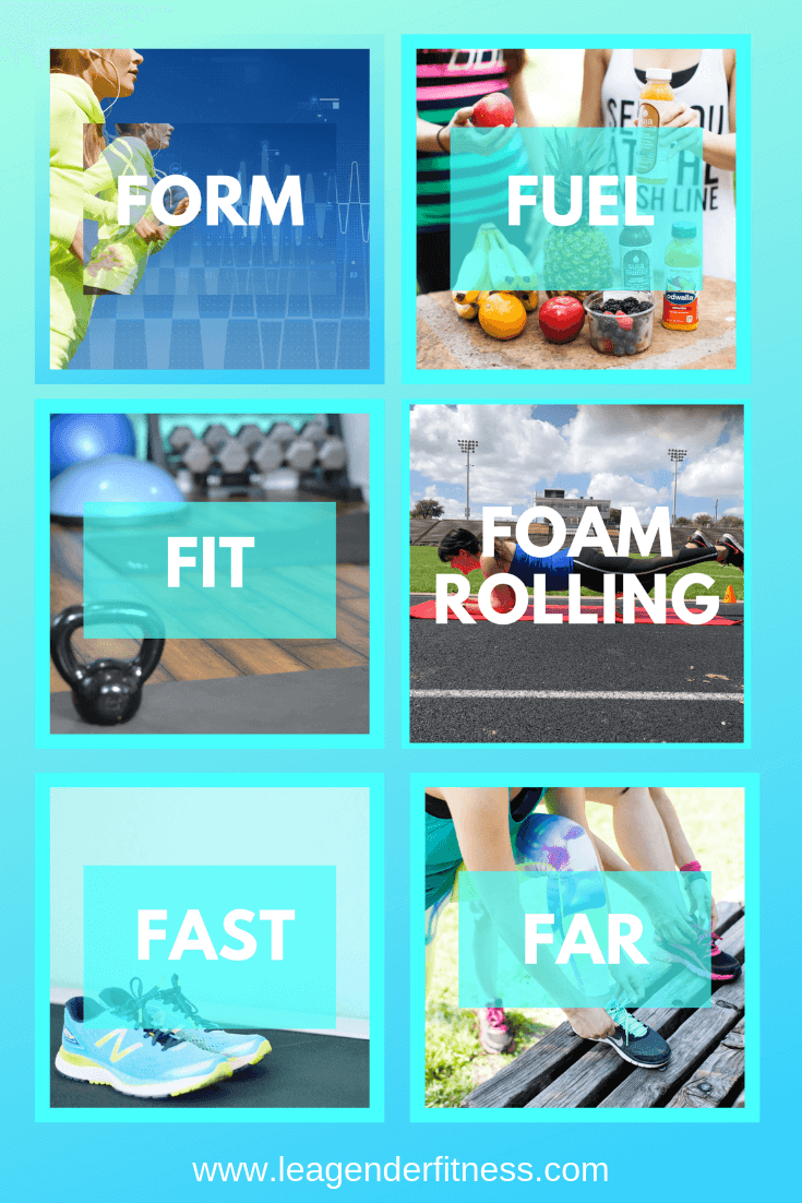 the 6 Fs of Running. Are you mastering the fundamentals? Save to your favorite Pinterest board for later.