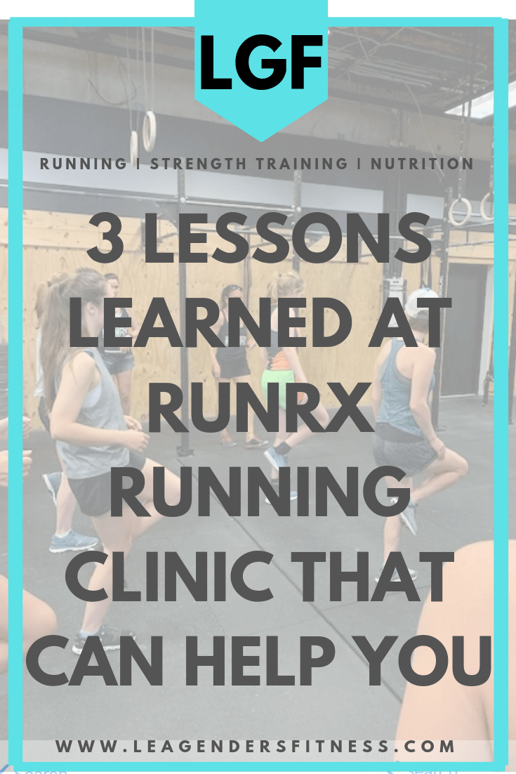 3 lessons learned at RunRX running clinic that can help you. Save to your favorite Pinterest running board to share,